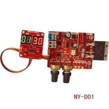 Placa de controle de soldadores ponto 100a, visor digital, tempo de solda a ponto e controlador atual, painel, amperímetro de temporização