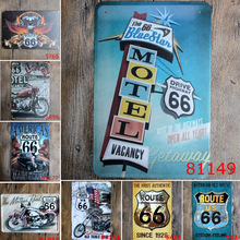 Historical Mother Road ROUTE 66 Vintage Metal Tin Signs Home Decor Wall Art Poster For Bar Coffee KTV