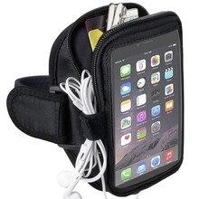 Запуск Спортивная Сумка На Молнии Бумажник Телефон Случае Держатель для iPhone 6 6 S 7 плюс Samsung Galaxy Примечание 7 5 4 3 S7 S8 S6 Край Плюс LG