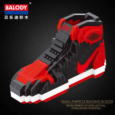 different sport Basketball shoes  air jordan brick aj XI XIII III assemable model diamond building block toy collection 18076-8