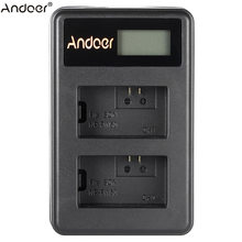Andoer NP-FW50 Oplaadbare LED Display Li-Ion Battery Charger Pack 2-Slot USB Kabel Kit voor SONY Alpha A7 A7R a7S A5000(China)