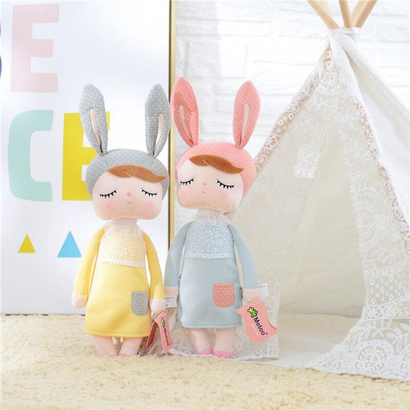 Kawaii Soft Stuffed Plush Animals Cartoon Kids Toys for Girls Children Baby Birthday Christmas Gift Angela Rabbit Metoo Doll