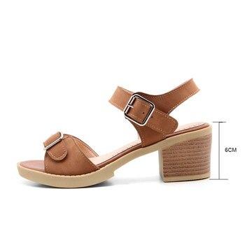 Sandales à Double Bride   Fanyuan Fanyuan Mode Double Boucle Sangle Bout Ouvert Sandales Confort Talons Hauts été Cheville Sangle Plate-forme Chaussures Femmes