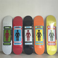 GIRL Brand Decks Canadian Maple Wood Shape Skateboard Green Girl Pattern Skate Board 8Types Available