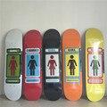 Marca MENINA Forma de Decks de Madeira de Bordo Canadense Skate Menina Verde Padrão da Placa do Patim 8 Tipos Disponíveis