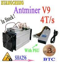 В наличии! Antminer S3 S5 S7 версия нового BITMAIN Asic AntMiner V9 4TH/S (с БП) Bitcoin шахтера БТД экономические чем antminer s9 T9