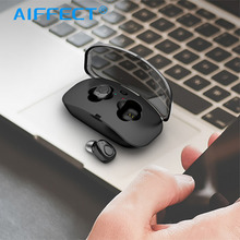 AIFFECT Mini TWS True Wireless Bluetooth Earphone Stereo Sports Headset With 500mAh Charging Box Mic Earbud For Smartphone