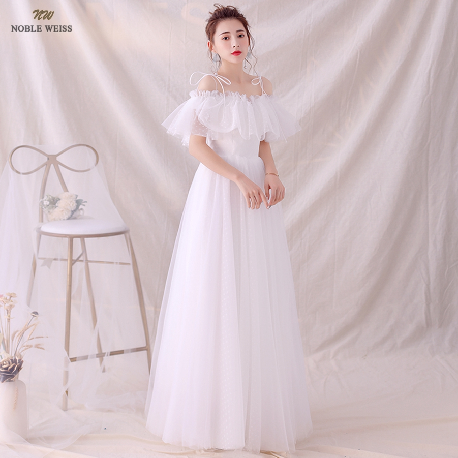 Wedding Dresses Boat Neck Tulle A-line Simple Wedding Dress Sexy Floor-length Bridal Dresses Pleat Wedding Gown
