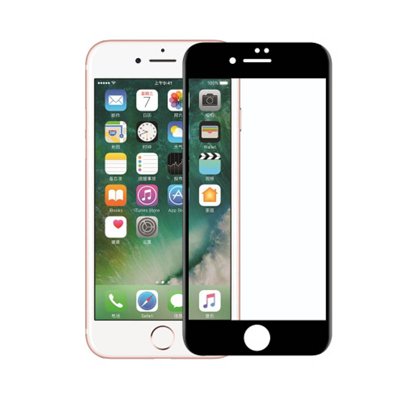 5D Full Glue Curved Tempered Glass For iPhone 7 8 Plus Dust Proof Cover Screen Protector X 6 6S Protective Film