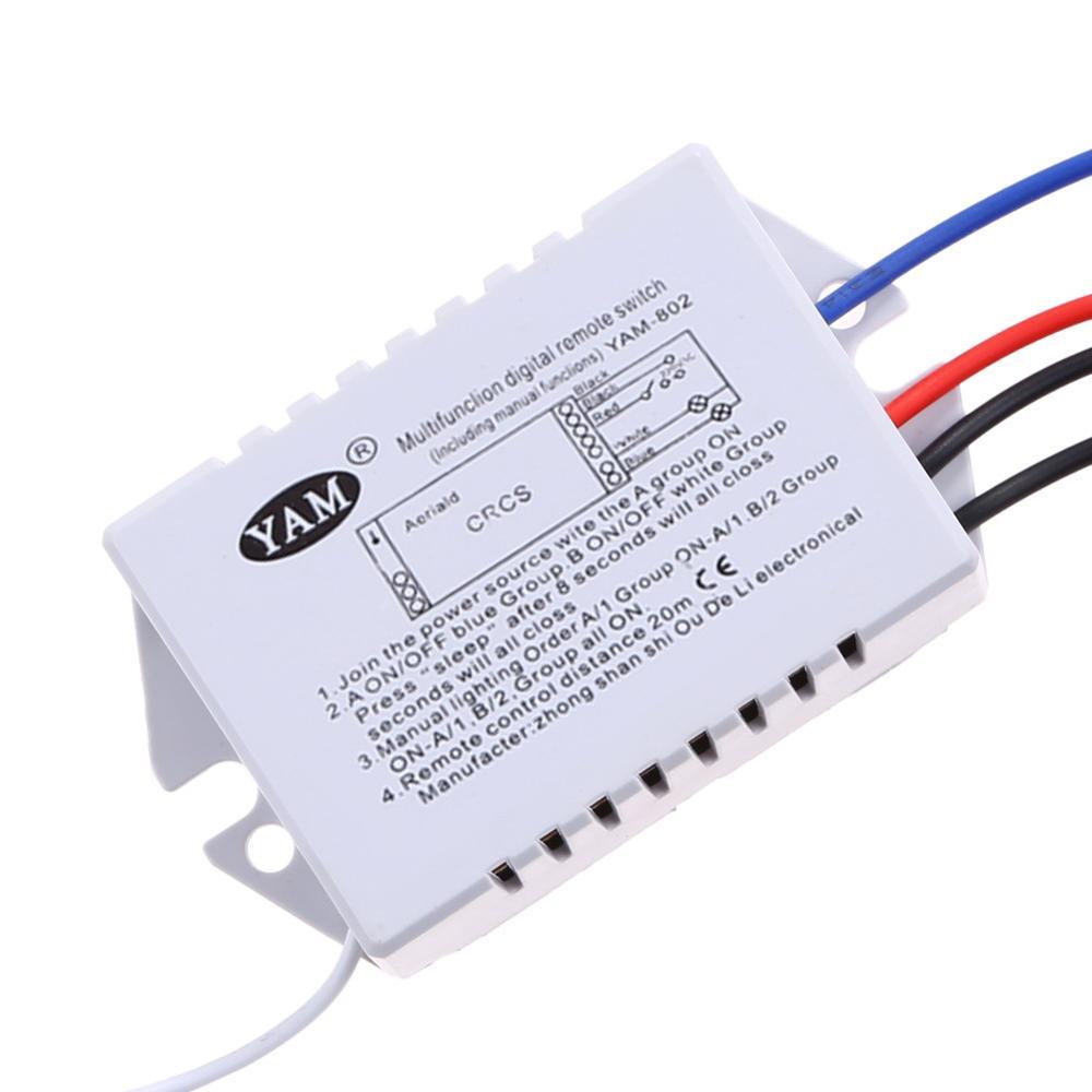 Wireless ON/OFF 2 Möglichkeiten 220 V 2 Kanal Funk fernbedienung ...