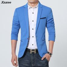 Xnxee New Arrival Luxury Men Blazer Spring Fashion Brand High Quality Cotton Slim Fit Suit Terno Masculino Blazers