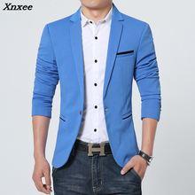 Xnxee New Arrival Luxury Men Blazer Spring Fashion Brand High Quality Cotton Slim Fit Suit Terno Masculino Blazers