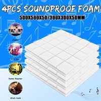 4pcs50x50x5cm студийная акустическая Звукоизоляционная пена Звукопоглощающая облицовочная плитка клиновая Защитная губка