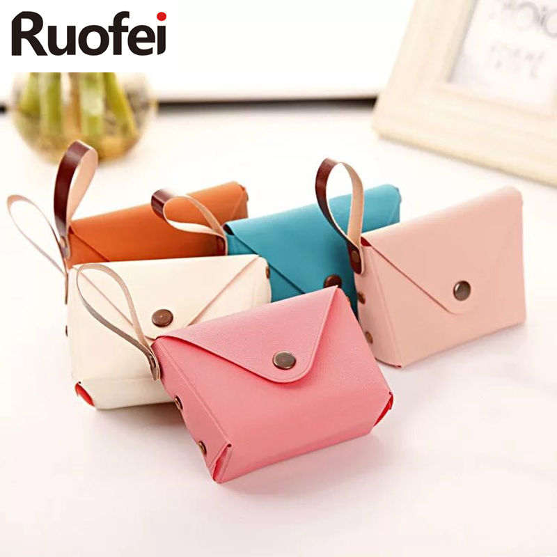 Hot sales 2017 new women wallet Lovely candy color small coin purse key bag D1