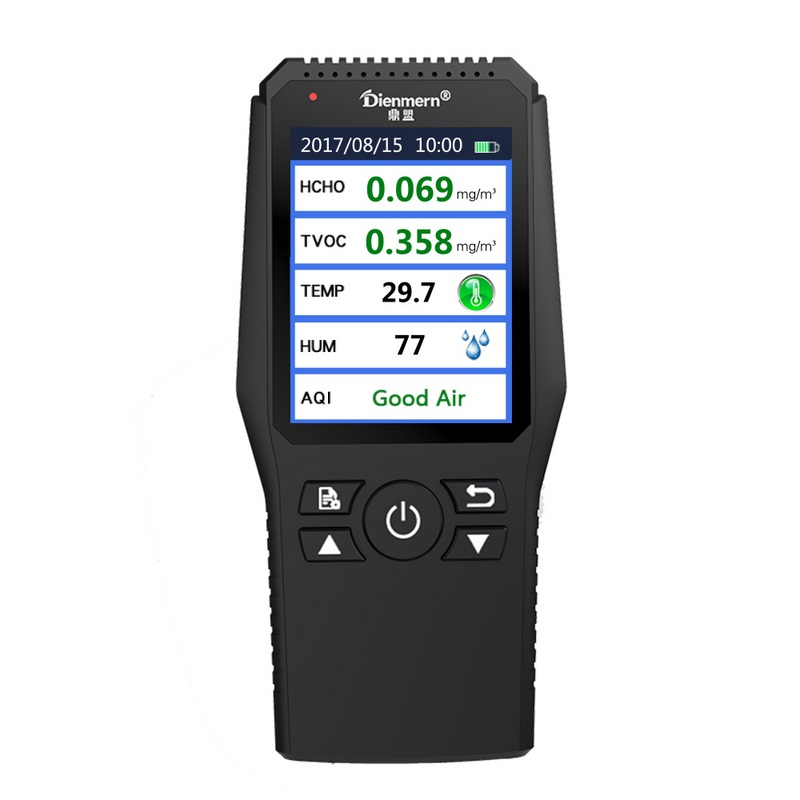 Air Quality Detector Tester Digital Formaldehyde Detector Meter Formaldehyde Tester HCHO TVOC Sensor CO2 Detector Gas Analyzers air quality monitor formaldehyde tvoc detector with digital display