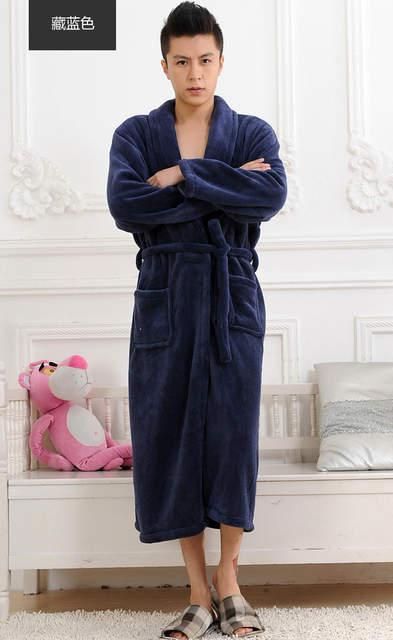 b8ff128dc8 placeholder 2017 Winter Autumn thick flannel men s women s Bath Robes  gentlemen s homewear male sleepwear lounges pajamas pyjamas