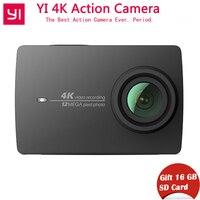 Международная Экшн камера Xiaomi YI 4 K xiaoyi Спорт камера 4 K/30 2,19 пульт дистанционного управления HD IMX377 12MP 155 градусов EIS LDC