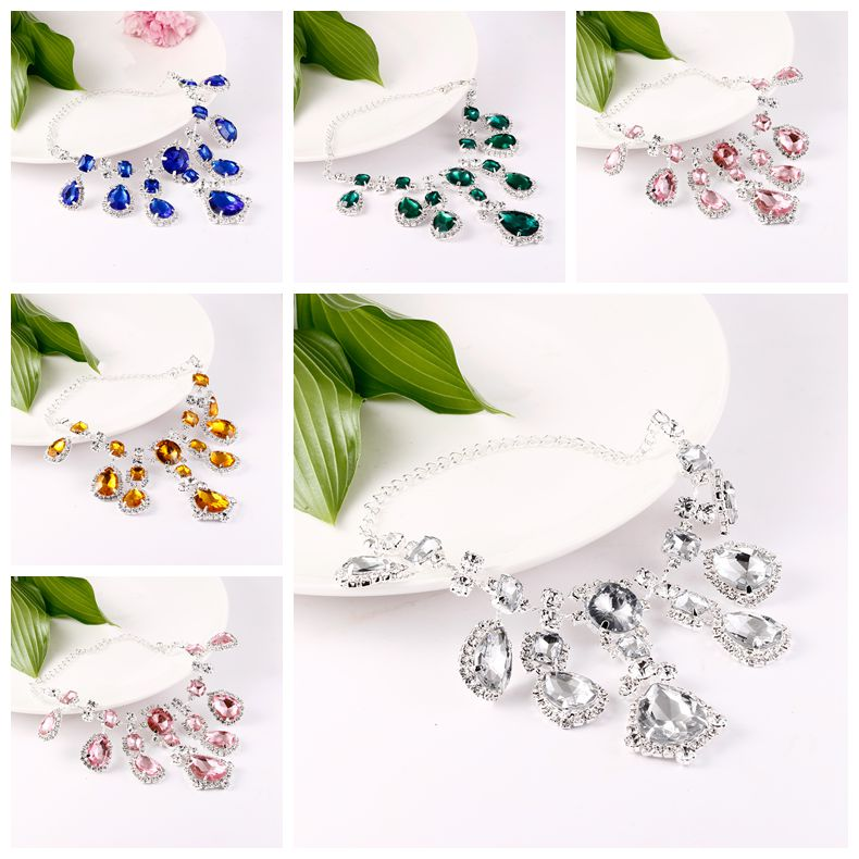 Crystal Queen One pair Wedding Rhinestone Anklet Beads Chain Ankle Barefoot Sandal Beach shoes Chain New  Foot Jewellery Anklets