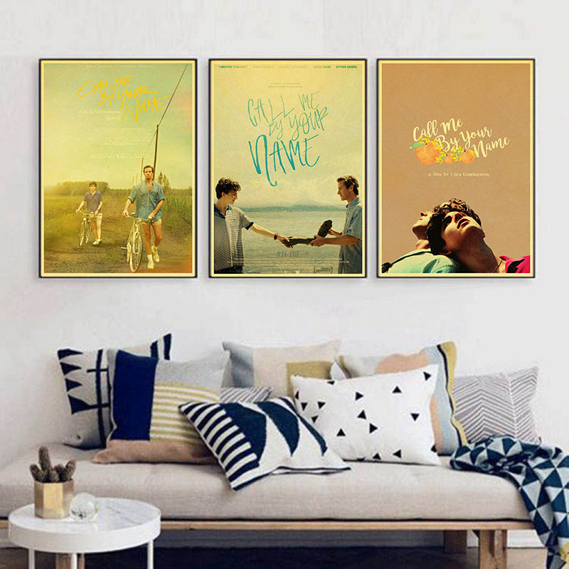 MOVIE Gay Call Me by Your Name Vintage Paper Poster Wall Painting Home Decoration 42X30 CM 30X21 CM image