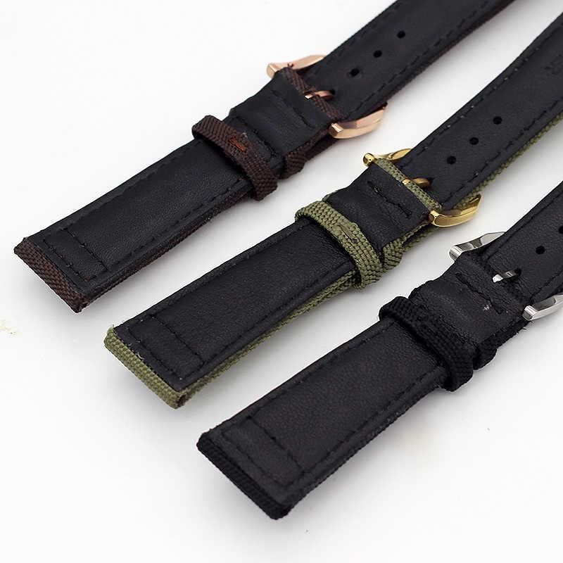 Naylon saat kayışı Için IW C Portofino Portugieser Da Vinci Pilot Saatler Bant 20 MM 21 MM 22 MM erkek saati bilezik aksesuarları