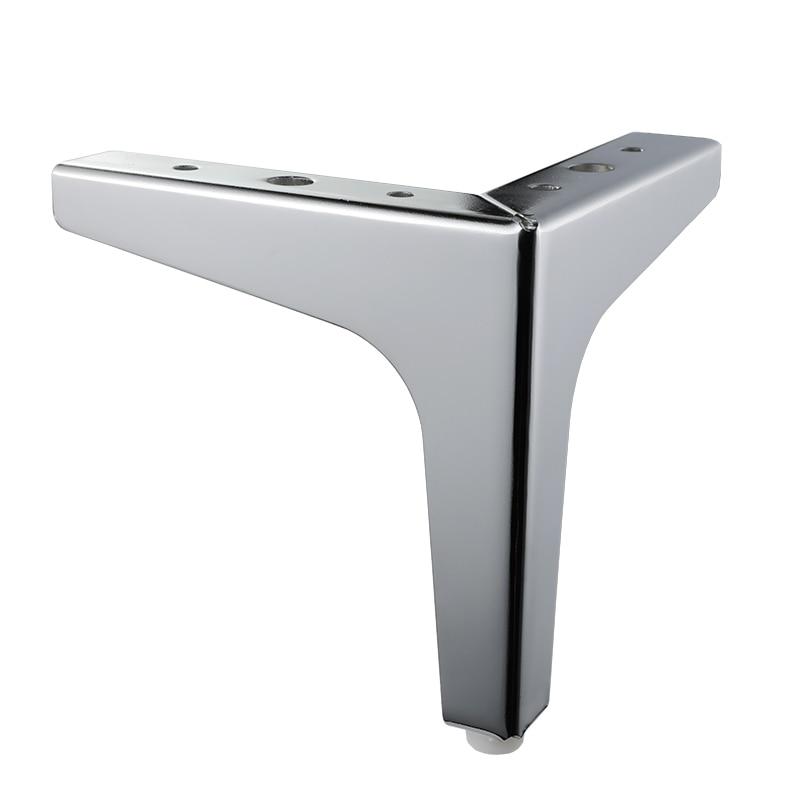 4pcs Triangular Metal Furniture Legs Cabinet Feet Triangle Shaped Sofa Bed Table Legs Furniture Feet Hardware Accessories Silver