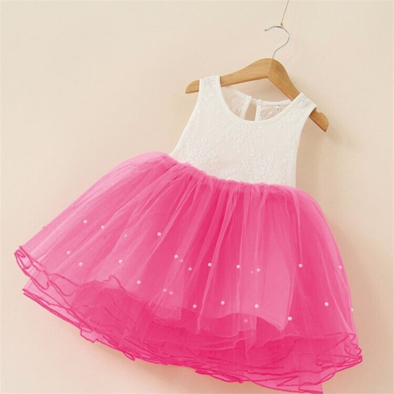 2016 New Princess Baby Girls Boutique Dresses Kids Frock