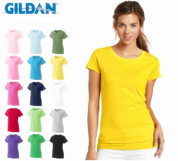 7cf430e8 100% Cotton 17 Colors Ladies Plain Tshirt Short Sleeve Gildan Tees Women  Casual Blank T Shirt S - XL Girl's Bottom Tops Clothing