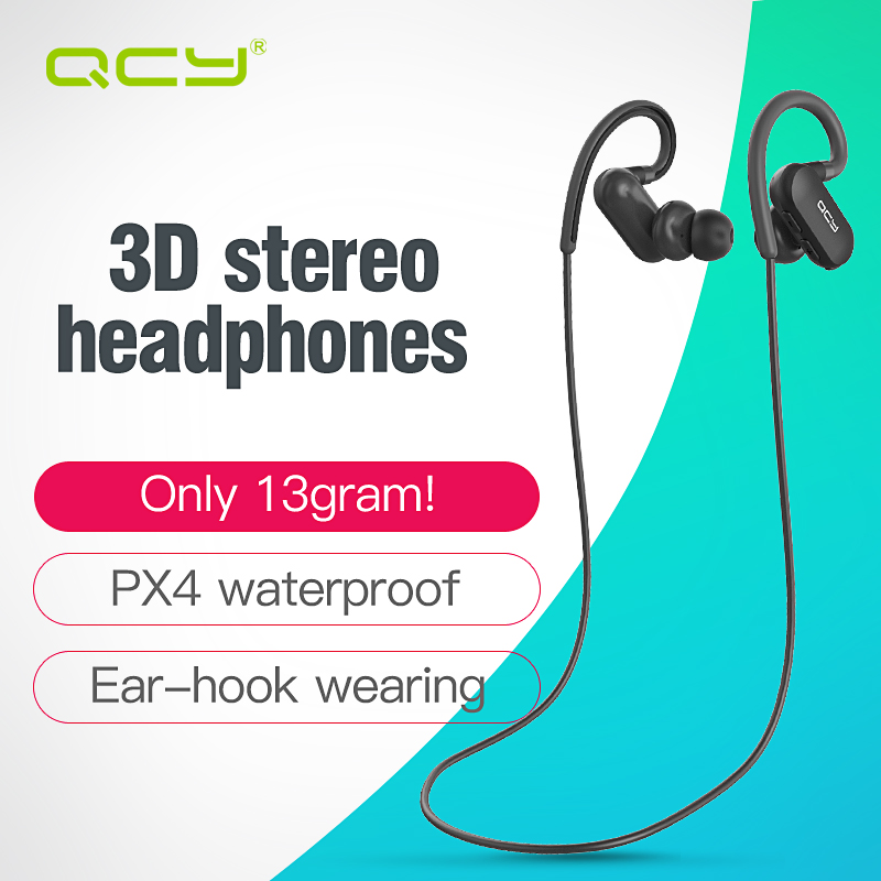 bilder für QCY-qy31 ohrbügel Sport kopfhörer apt-x HIFI 3D stereo kopfhörer 4,1 Wireless Bluetooth Headsets IPX4 sweatproof kopfhörer