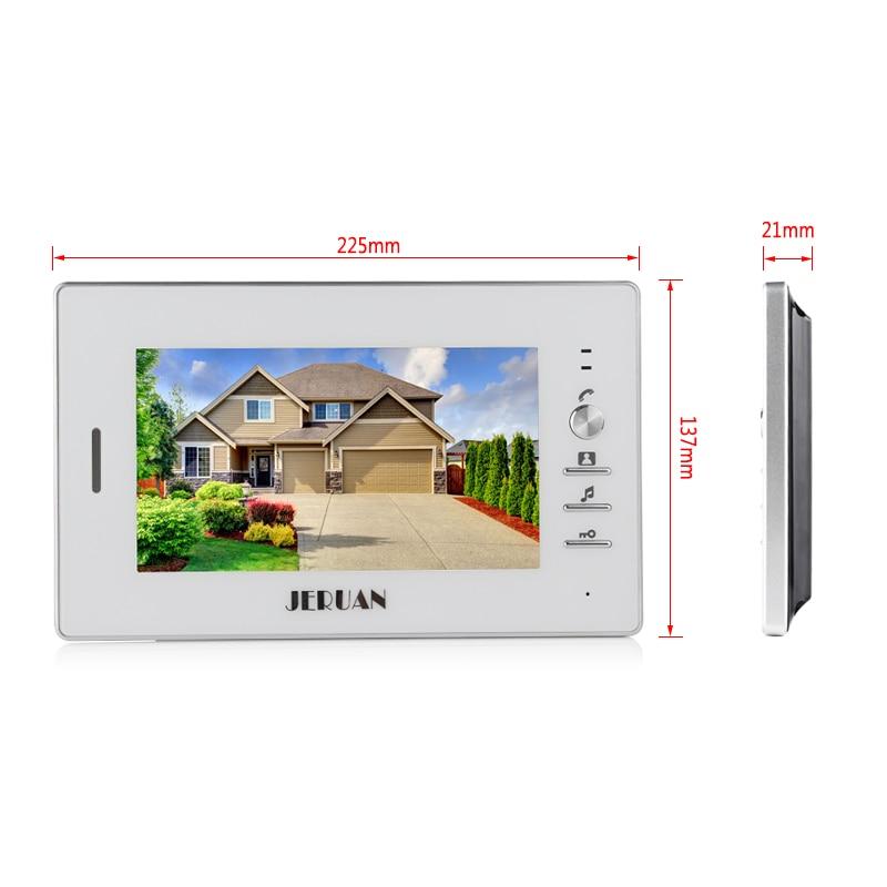 JERUAN NEW 7`` Video Intercom Doorbell System kit 3 Monitor + Metal panel Waterproof Access Password keypad HD Mini Camera 1V3