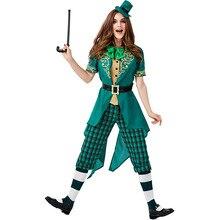 Umorden Womens St. Patricks Day Ireland Irish Leprechaun Elf Costume Green Spirit Halloween Masquerade Mardi Gras Party Outfit