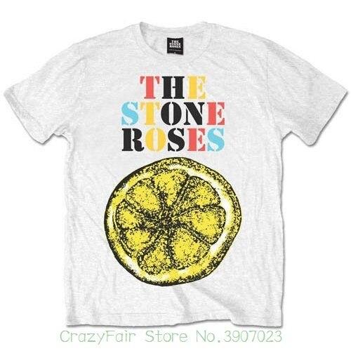 Stone Roses 'lemon Multicolour' футболка New & официальный! Футболка с принтом Для мужчин Летний стиль