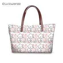 ELVISWORDS Womens Famous Brand Handbags Cartoon Animal Prints Pattern Woman Crossbody Bags sac a main Kawaii Design Purse