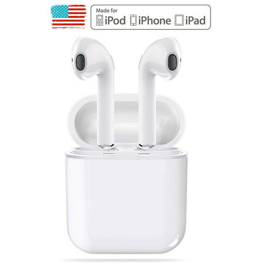 все цены на GONOKER Wireless Headphone Bluetooth Earphone with Microphone Hands Free TWS Wireless Earbuds for Apple iPhone 5s 6s 7 8 X