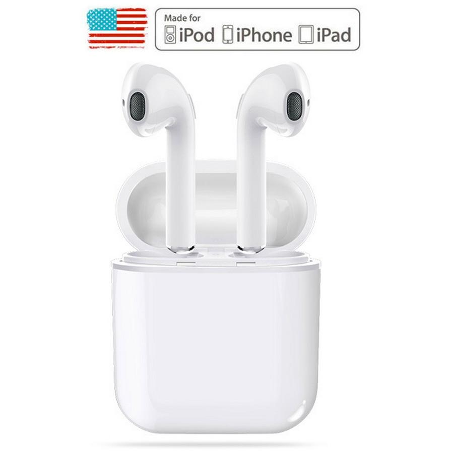 GONOKER Wireless Headphone Bluetooth Earphone with Microphone Hands Free TWS Wireless Earbuds for Apple iPhone 5s 6s 7 8 X