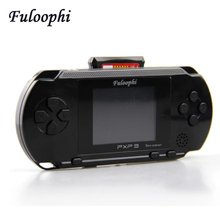 Fuloophi Video game PXP3 Player Slim Station Pocket Game Kids 16-BitHandheld Game Console+ Game Card Birthday Gift Children