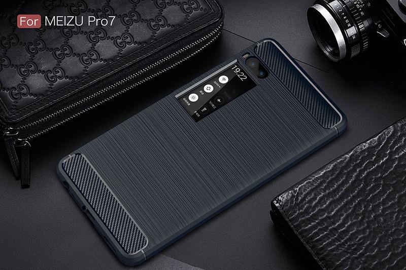 carbon fiber silicon case meizu pro 7 (11)