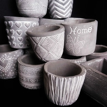 Small Handmade Flower Pot Cement Mould Round Square Concrete Planter Silicone Molds