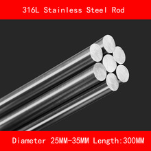 316L Stainless steel round bar Diameter 25mm 30mm 35mm Length 300mm metal rod недорого