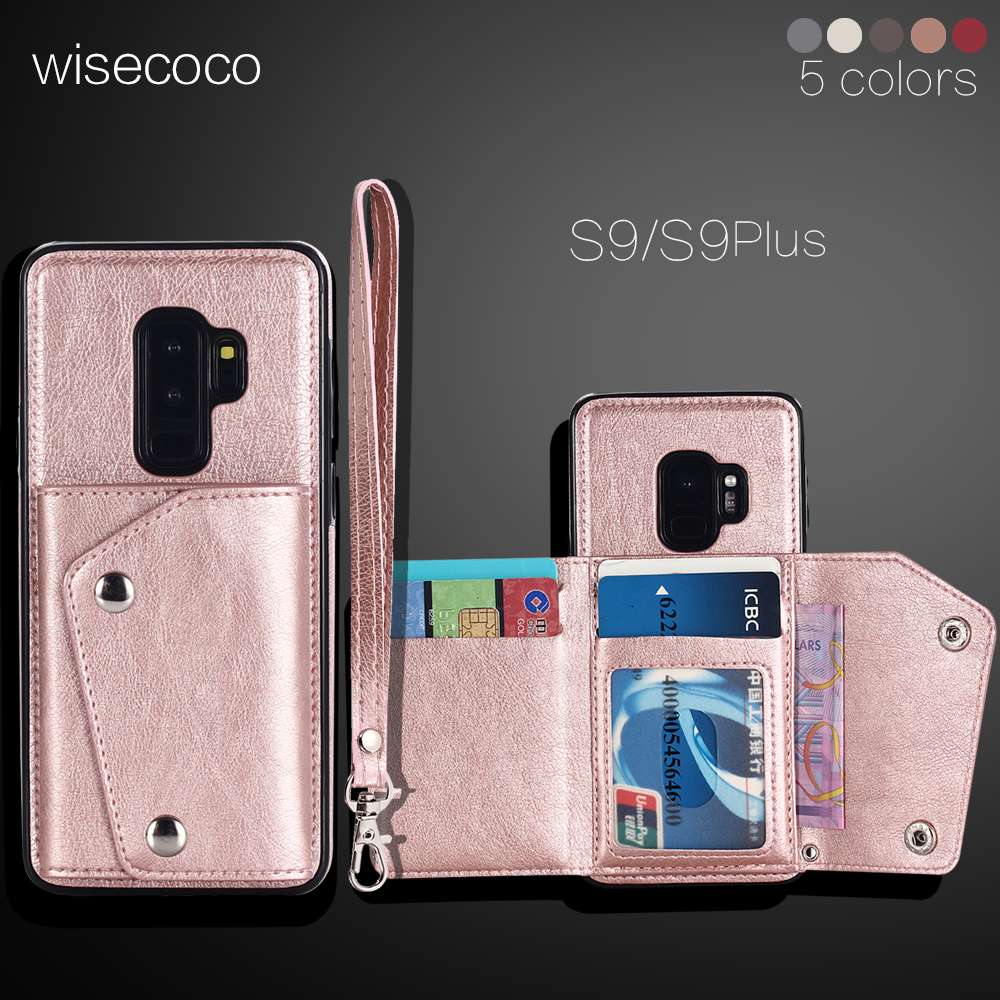 Leather Wallet <font><b>Case</b></font> For <font><b>samsung</b></font> galaxy s7 s8 <font><b>s9</b></font> plus <font><b>Flip</b></font> <font><b>case</b></font> for <font><b>samsung</b></font> s9plus s8plus s7edge note8 Protective Back cover image