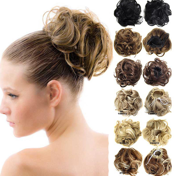 Womens curly drawstring clip in hair bun piece updo cover chignon womens curly drawstring clip in hair bun piece updo cover chignon synthetic hair extensions 25 colors available on aliexpress alibaba group pmusecretfo Images