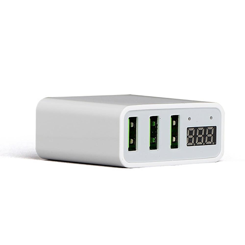 USB Charger LED Universal Untuk 3 Port Cepat 5 V 3A UNI EROPA US Plug - Aksesori dan suku cadang ponsel - Foto 3