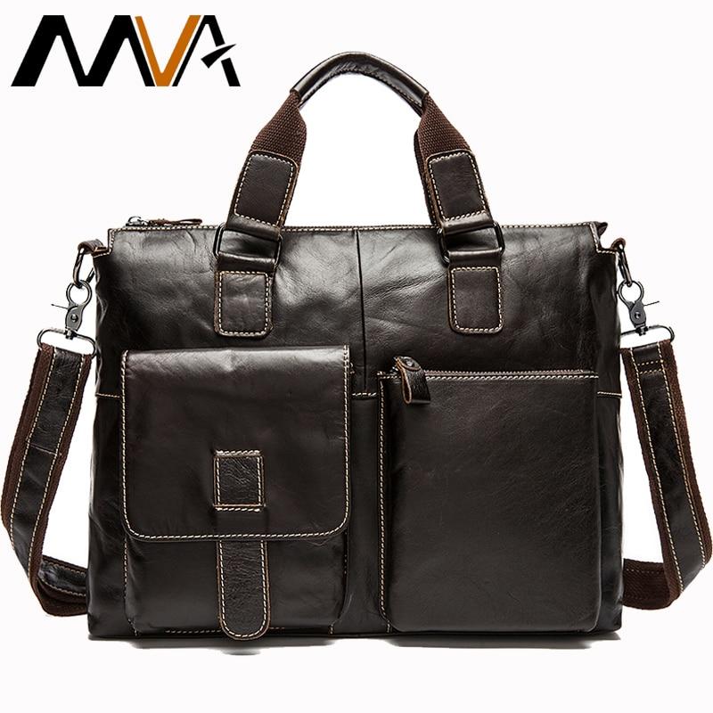 Luxury ชายกระเป๋าเอกสารผู้ชายหนังแท้ Mens ทนายความกระเป๋าเอกสารหนัง 14 แล็ปท็อป Messenger กระเป๋าสำนักงานสำหรับทำงานกระเป๋า 260-ใน กระเป๋าเอกสาร จาก สัมภาระและกระเป๋า บน   1