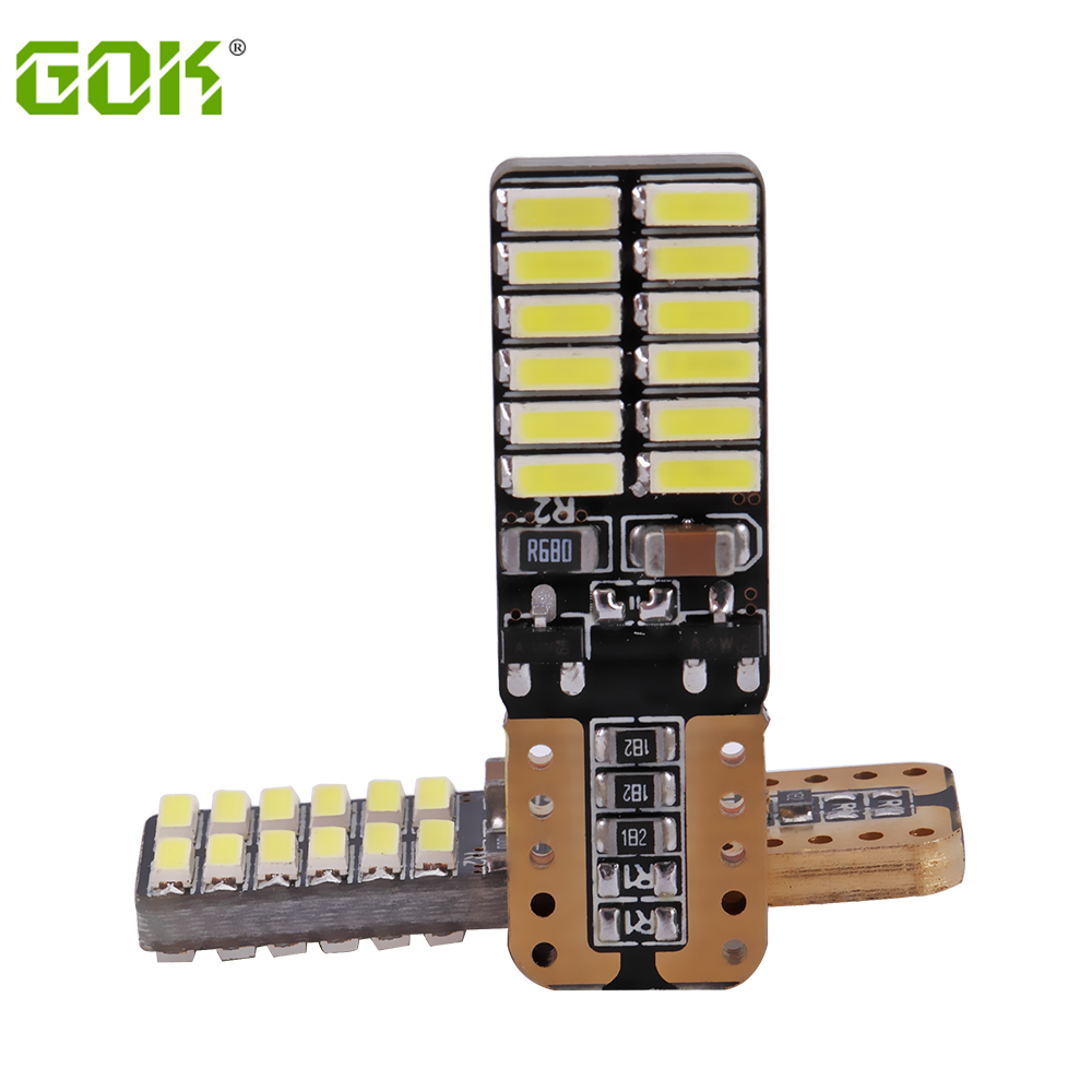 Groothandel T10 lamp 194 T10 led canbus t10 24SMD 4014 auto LED-signaallicht canbus foutloos led parking auto styling mistlamp