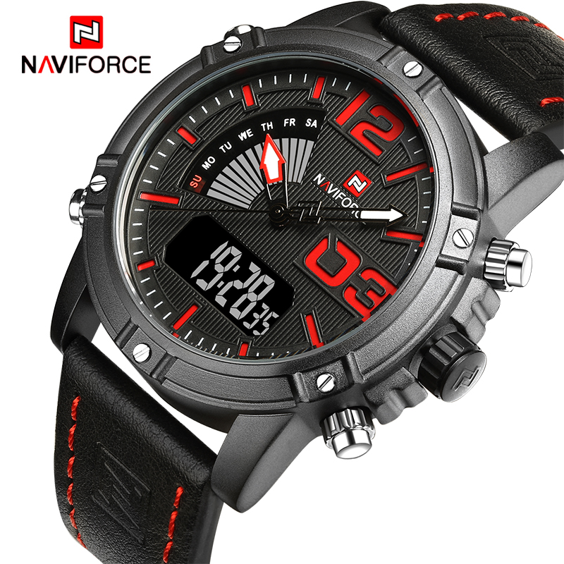 2017 NEW Luxury Brand NAVIFORCE Men Sport Watches Men's LED Quartz Waterproof Clock Male Military Wrist Watch Relogio Masculino