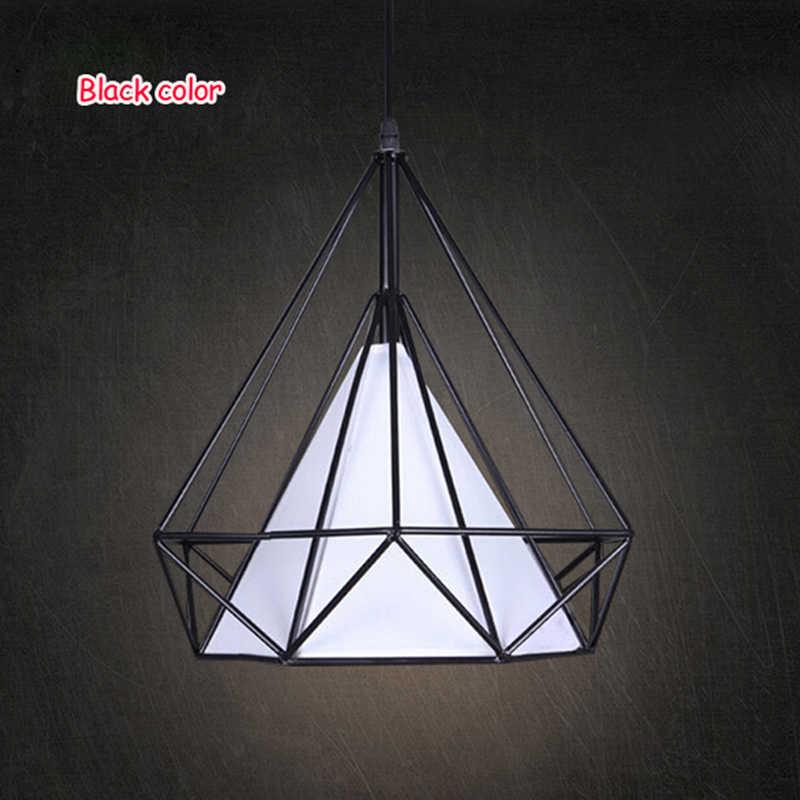 Современный Art Deco черный/белый подвесные светильники в виде птичьей клетки Утюг минималистский ретро светильник Лофт лампа в форме пирамиды led, спальни, кухни, сплошные, ручной стержень, для кафе, для
