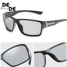 Hot Sale Polarized Photochromic Sunglasses Unisex Lens Eyewear Square Men Women Classic Anti Glare Glasses Fashion Goggles