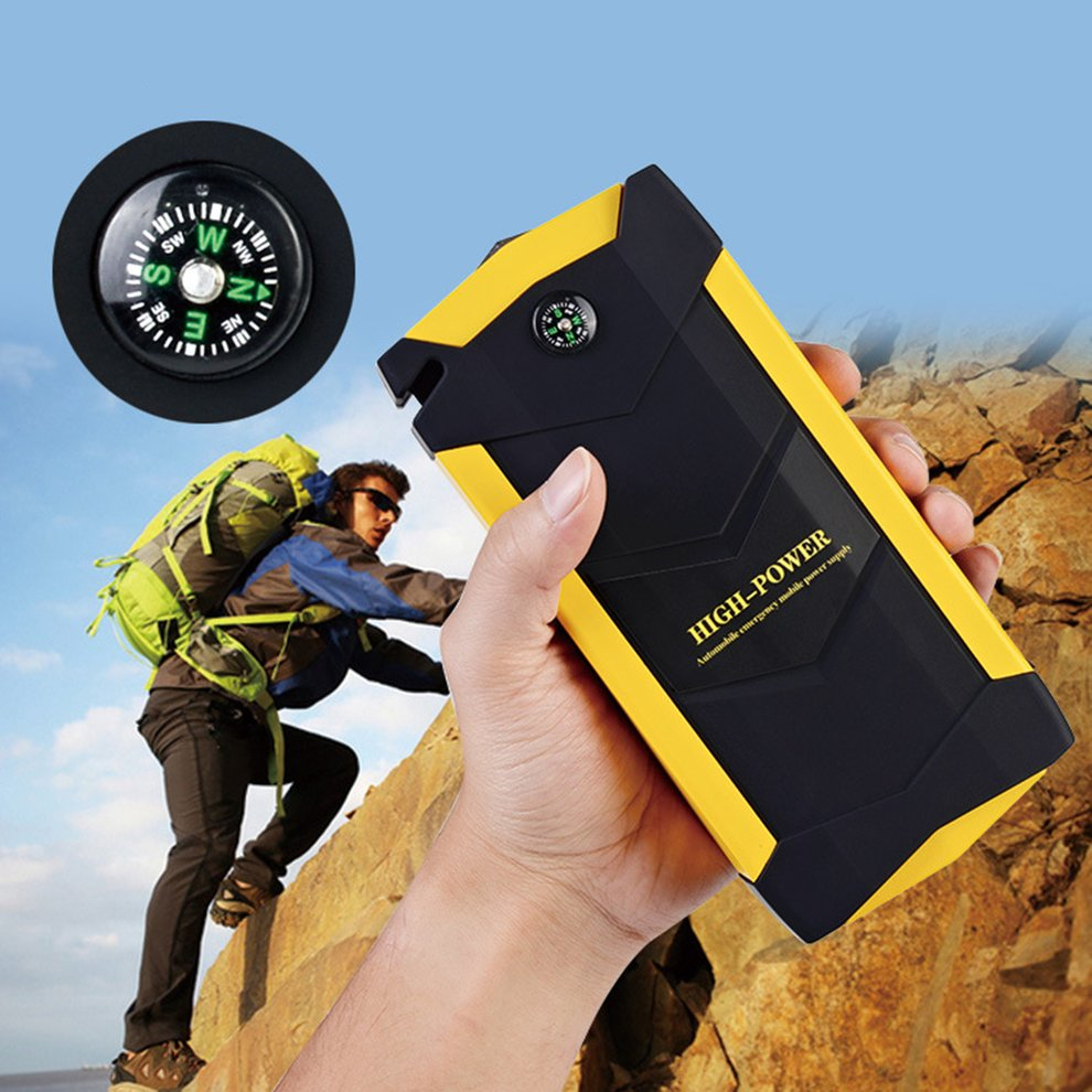 12V Capacity Multifunctional 4USB Car Jump Starter Booster Charger Battery Power Bank Emergency Mobile Power Tool Kit