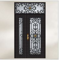 Custom Design Forged Wrought Iron Front Doors Iron Doors Iron Entry Doors H Wid6