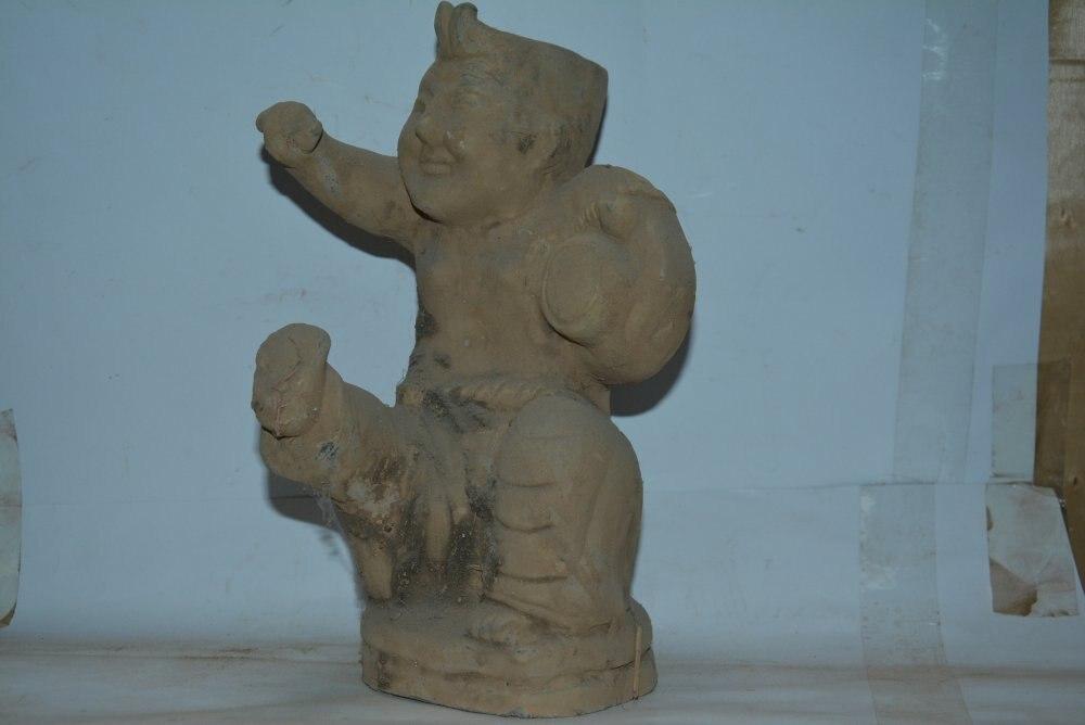 Редкая династия Цинь (221 BC до 207 Статуэтка керамика, ручная роспись ремесел/коллекция и украшение, бесплатная доставка