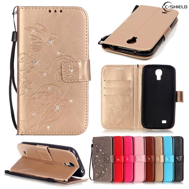 Case for Samsung Galaxy S4 S 4 GalaxyS4 I9500 I9505 I9506 I9515 GT-I9500 GT-I9505 GT-I9506 GT-I9515 Leather Diamond Phone Case